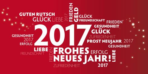 Wir wünschen ein gesundes und erfolgreiches Jahr 2017